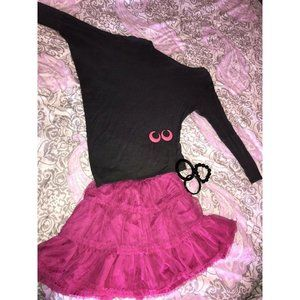 "80's MED Costume ""flaw"" & accessories Pink Tutu OS"